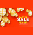 easter sale special holiday offer set of hand vector image