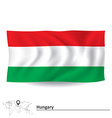 Flag of Hungary vector image vector image