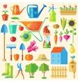 Garden Colored Icon Set vector image vector image