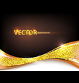 gold abstract elegant background vector image vector image