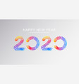 happy new year 2020 banner template vector image vector image