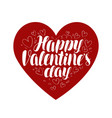 happy valentine s day heart love symbol vector image vector image