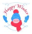 happy winter vector image vector image