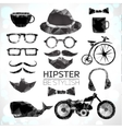 Hipster style elements and icons vector image vector image