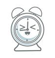 kawaii clock alarm school cartoon icon vector image