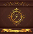 Letter Z Luxury Logo template flourishes vector image vector image
