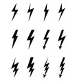 lighting flash icons vector image