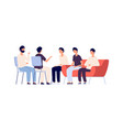 man club group psychotherapy flat male vector image vector image