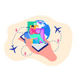 mobile application for travelers concept vector image vector image
