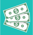 money dollar cash icon bill and currency green vector image