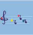 musical notes cartoon characters holding cups of vector image