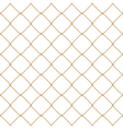 Nautical rope seamless gold fishnet pattern vector image vector image