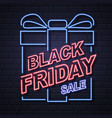 neon sign black friday big sale open vector image vector image
