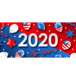 new year 2020 with national colors usa american vector image