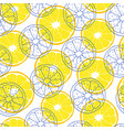 pattern with lemon slices vector image