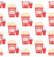 popcorn seamless pattern vector image