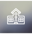 School building thin line icon vector image vector image