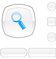 Searching white button vector image vector image