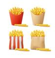 set of potatoes vector image