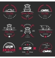 Set of vintage badges car club and garage vector image vector image