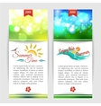 Shining summer typographical banners with blurred vector image