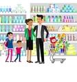 Shop supermarket flat vector image vector image