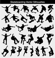 Skateboarding Silhouettes vector image
