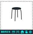 stool icon flat vector image