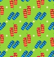 summer seamless pattern with set pair flip vector image