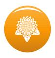 sunflower leaf icon orange vector image