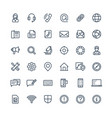 Thin line icons set with contact us