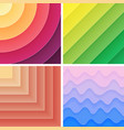 Trendy geometric gradient background pack