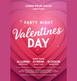 valentines day party night poster background vector image