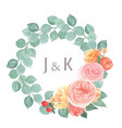 watercolor florals hand painted with text wreaths vector image vector image