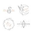 wedding logo luxury collection monogram elegant vector image vector image