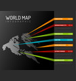 World map infographic template with pointer marks
