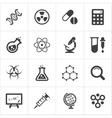 Trendy science icons on white vector image