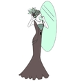 Beautiful retro style woman vector image
