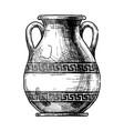 greek vase pelike vector image