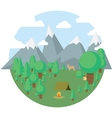 Flat camping travel icons vector image