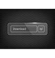 glossy download button on texture vector image