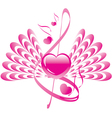 abstract heart wings vector image vector image