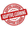adaptive learning red grunge stamp vector image vector image
