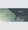 background with dark green color paper cut shapes vector image vector image