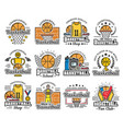 basketball items icons sport shop and school vector image vector image