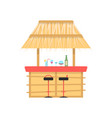 beach bar on white background vector image vector image