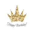 Birthday glitter crown icon vector image vector image