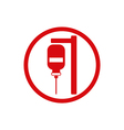 Blood transfusion icon isolated vector image