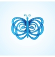 butterfly isolated on white background vector image