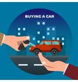 Buying car Man gets keys vector image